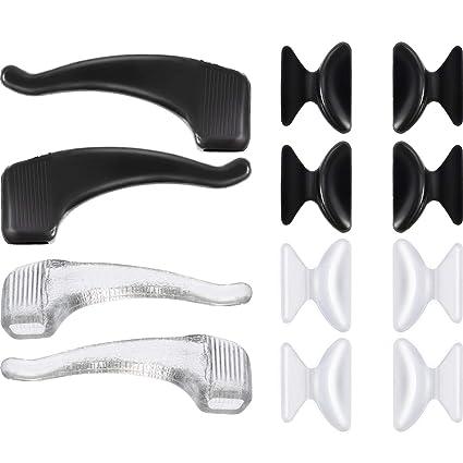20 Pares 2,5 mm de Almohadillas de Nariz de Silicona de Gafas y Ganchos