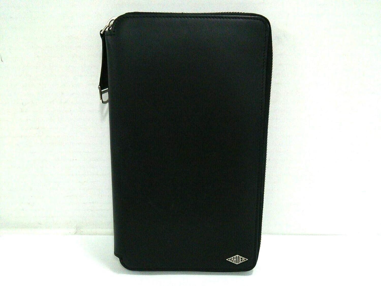 (カルティエ)Cartier 財布 トラベル コンパニオン 黒 【中古】 B07RYS42KH