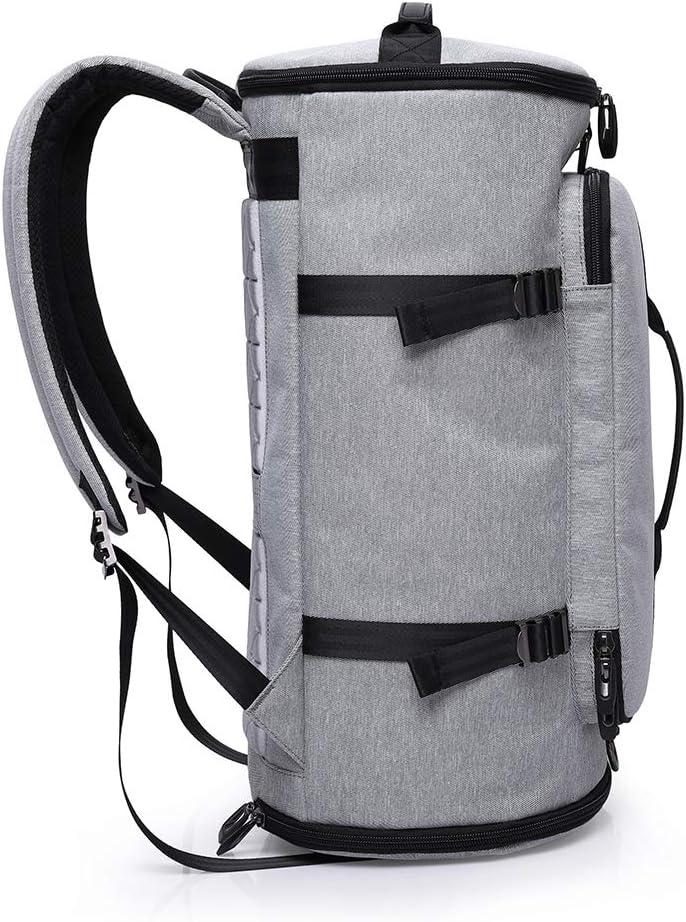 Sac /à Dos Sport Duffels pour Voyager Gymnasem Backpack 40L Toile Multipoches pour Laptop 15.6 Gris Bagages Grande Capacit/é avec Compartiment /à Chaussures et 2 Poign/ées de Main comme Sac /à Main