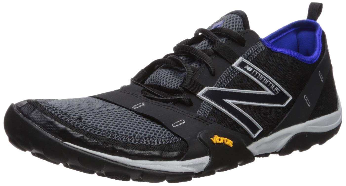 New Balance Men's 10v1 Minimus Running Shoe, Black/uv Blue, 9.5 2E US