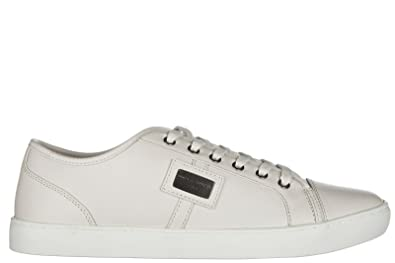 Men's Shoes Leather Trainers Sneakers Beige