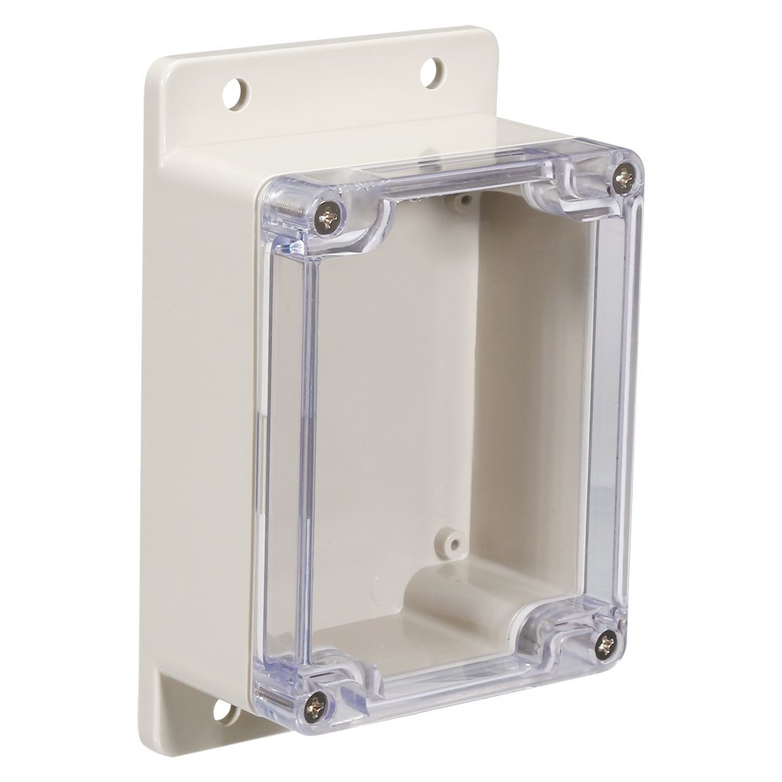 uxcell 115x90x55mm/4.53x3.54x2.17inch Wateproof Electronic ABS Plastic DIY Junction Project Box Enclosure Case Outdoor/Indoor with Clear Cover and Fixed Mount