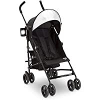 Delta Children Pilot Stroller - Extremely Lightweight Aluminum Travel Stroller with Supportive Recline, Oversized Canopy…
