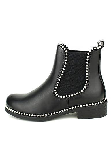 64d9e67ad1b64e Cendriyon, Bottine Noire Sixth Sens Clous Chaussures Femme Taille 41 ...