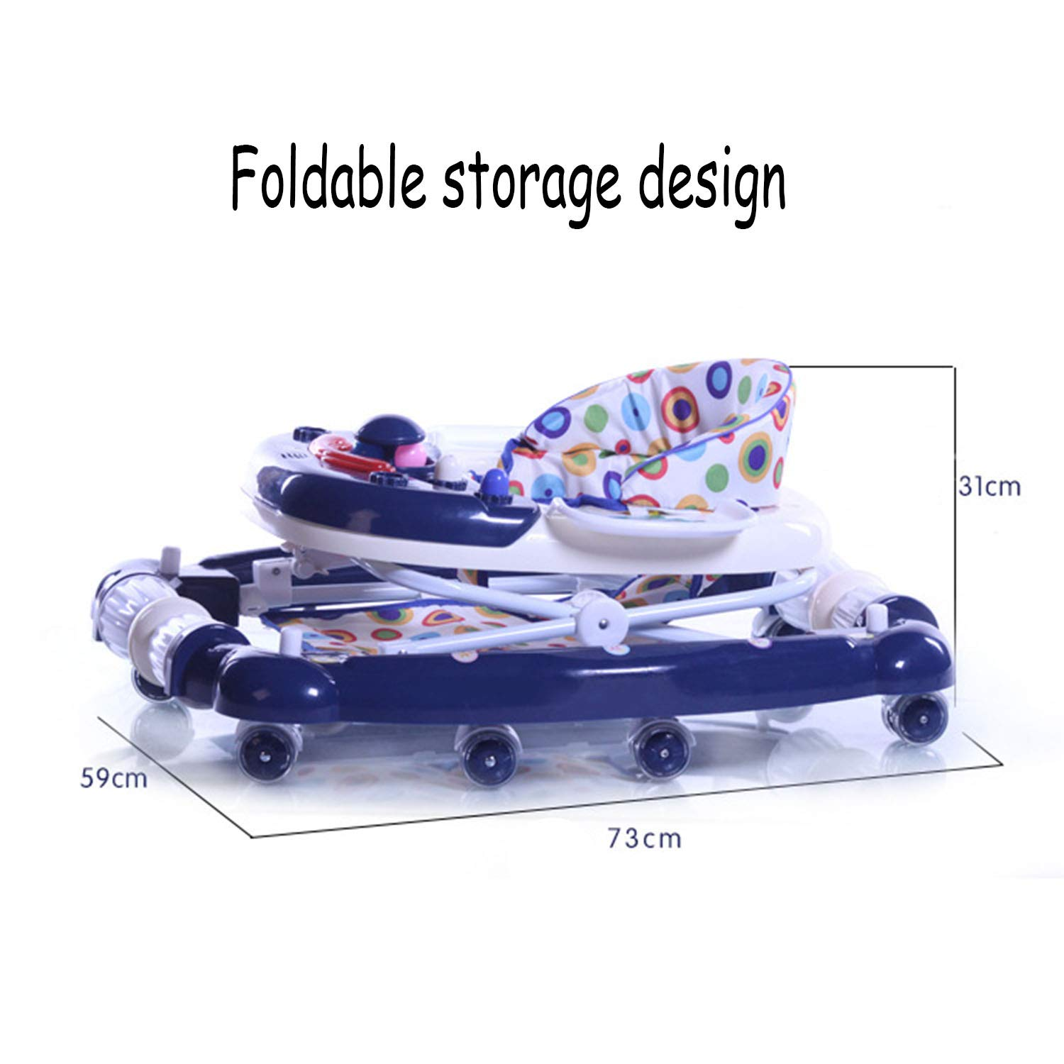 YXXHM- Walker Baby Young Child Anti-Rollover Plegable ...