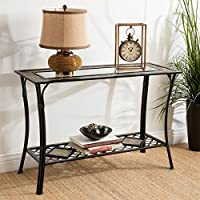 I Love Living, ( Slate- Glass ) Complete The Look Of Your Entryway Or Foyer With This Attractive Steel Sofa Table