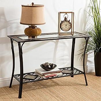 Amazon Com Slate And Glass Sofa Table Black Kitchen Dining