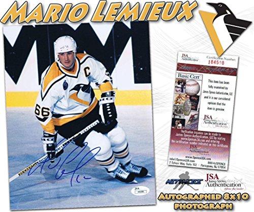 Autographed Mario Lemieux Photograph - 8x10#I84508 - JSA Certified - Autographed NHL Photos