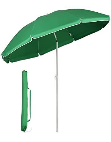 e3bbea1bfce6 Sekey® Ø 5.2ft / 1.6m Garden Parasol Umbrella Outdoor Sun Shade for Beach