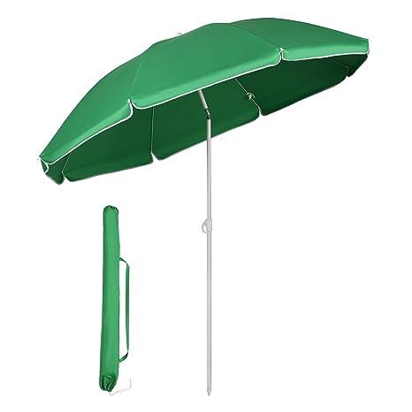 3b467894852 Sekey Parasol Ø 160 cm Round Cantilever Parasol Patio Umbrella Garden  Parasol Green UV20 + Sun
