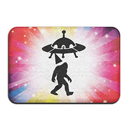 amazon com toniccn non slip door mat ufo and bigfoot silhouette