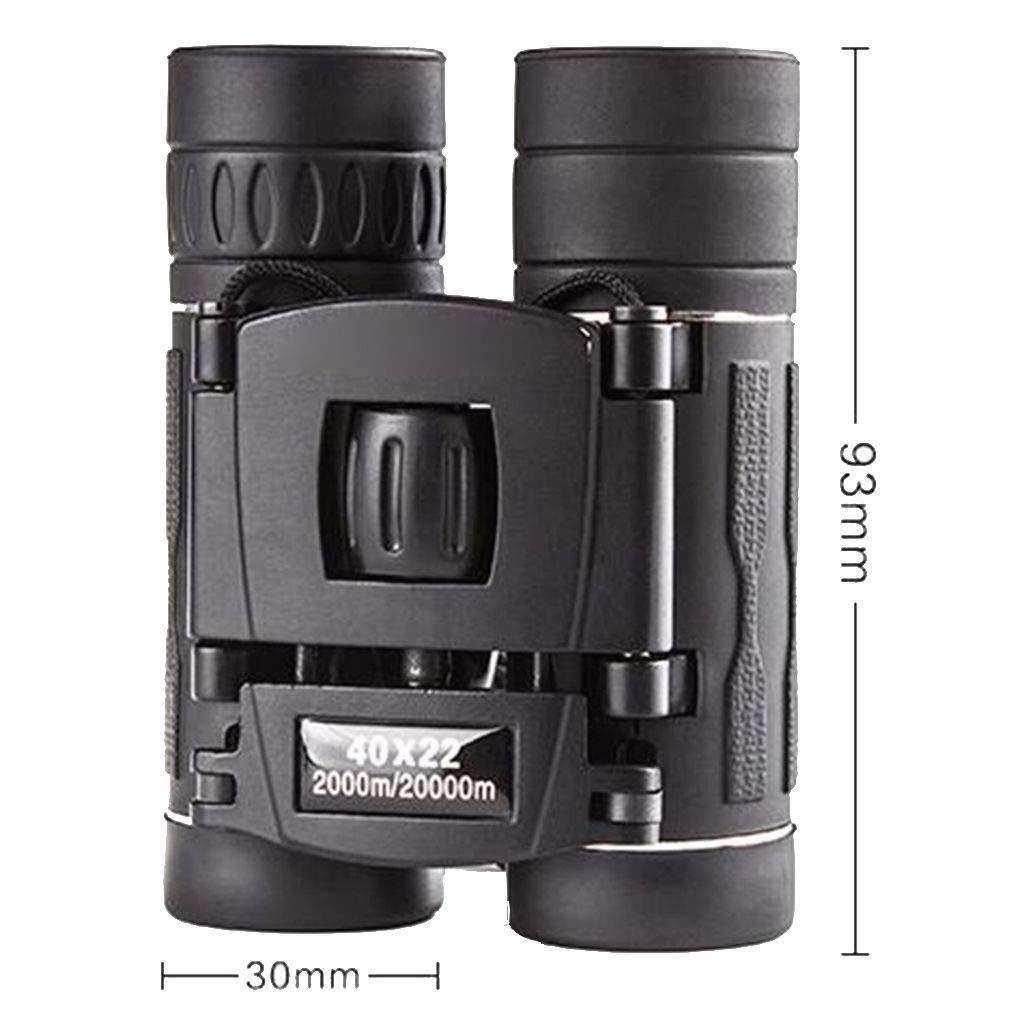 Uokoki 40x22 El Campo Lentes HD Mini Telescopio port/átil 40 Veces Binocle Prism/áticos Viaje Negro al Aire Libre