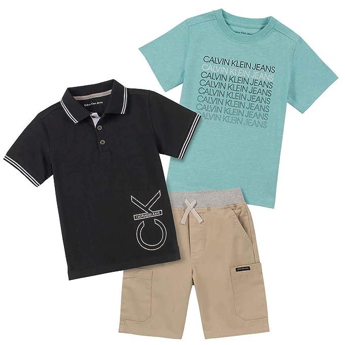 Calvin Klein Conjunto de 3 Piezas de Polo Pantalones Cortos para ...