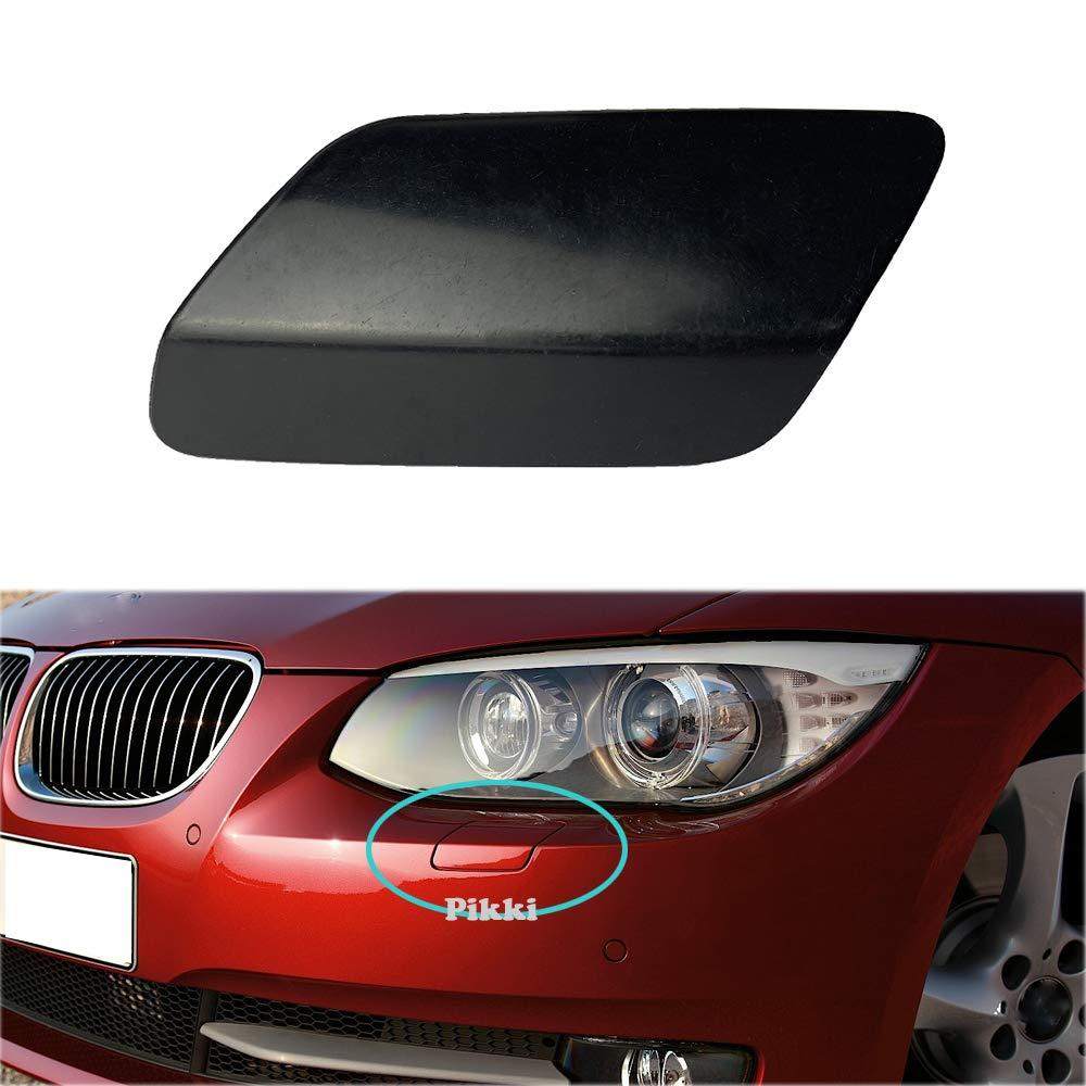 Left Side Pikki Front Bumper Headlight Washer Cover Cap for BMW E92 E93 3-Series 2011-2014 LCI