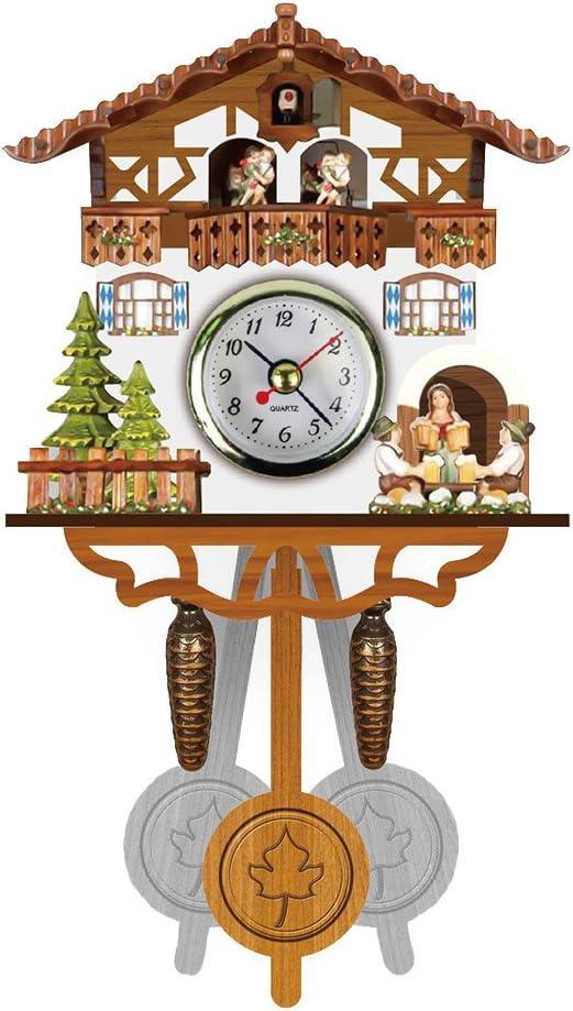 Zreal - Reloj de Madera con diseño de Cuco Antiguo de pájaro