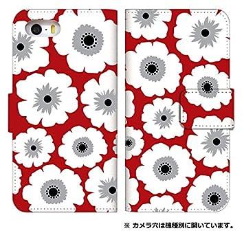 177bd97f54 スマホケース 手帳型 iPhone 8 ケース 手帳 かわいい 花柄 デザイン 0010-D. フラワー