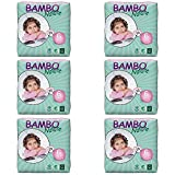 Bambo Nature Baby Diapers Classic, Size 6 (35-66 lbs), 132 Count (6 Packs of 22)