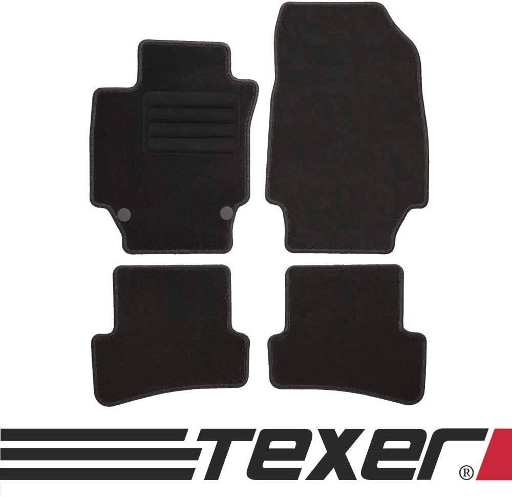 2013-2019 Basic TEXER Textil Fu/ßmatten Passend f/ür Renault Captur I Bj
