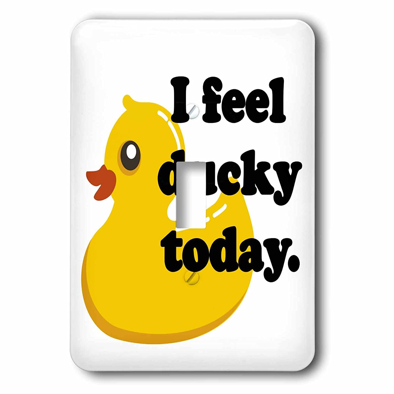 3dRose lsp/_163771/_1  I Feel Ducky Today Rubber Duck Single Toggle Switch