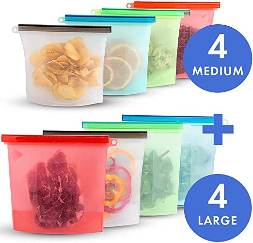 4x Small-large Mesh Zip Storage Bags