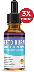 Keto Diet Supplement Drops Shred Burn Ketones for Faster Ketosis Weight Loss Appetite Suppressant Loose Unwanted Belly Fat Raspberry Ketone African Mango Advanced Dietary Blend Made in USA (1 Bottle)