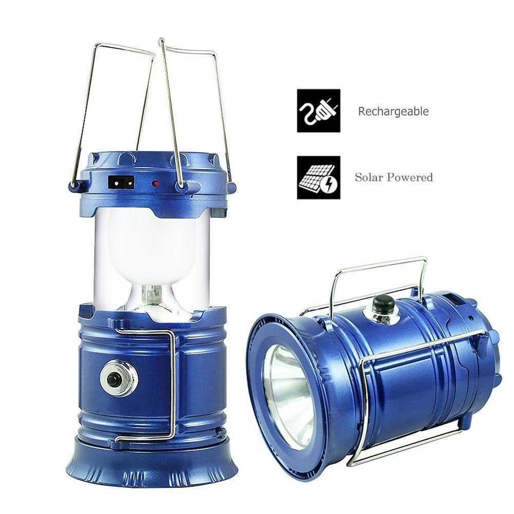 Yale Naedw Solar Camping Lantern Led, Lantern Flashlight, Collapsible Rechargeable Lantern Lights Ultra Bright For Outdoor, Emergency, Hurricane, Hiking, Fishing, Tent [2 Pack]