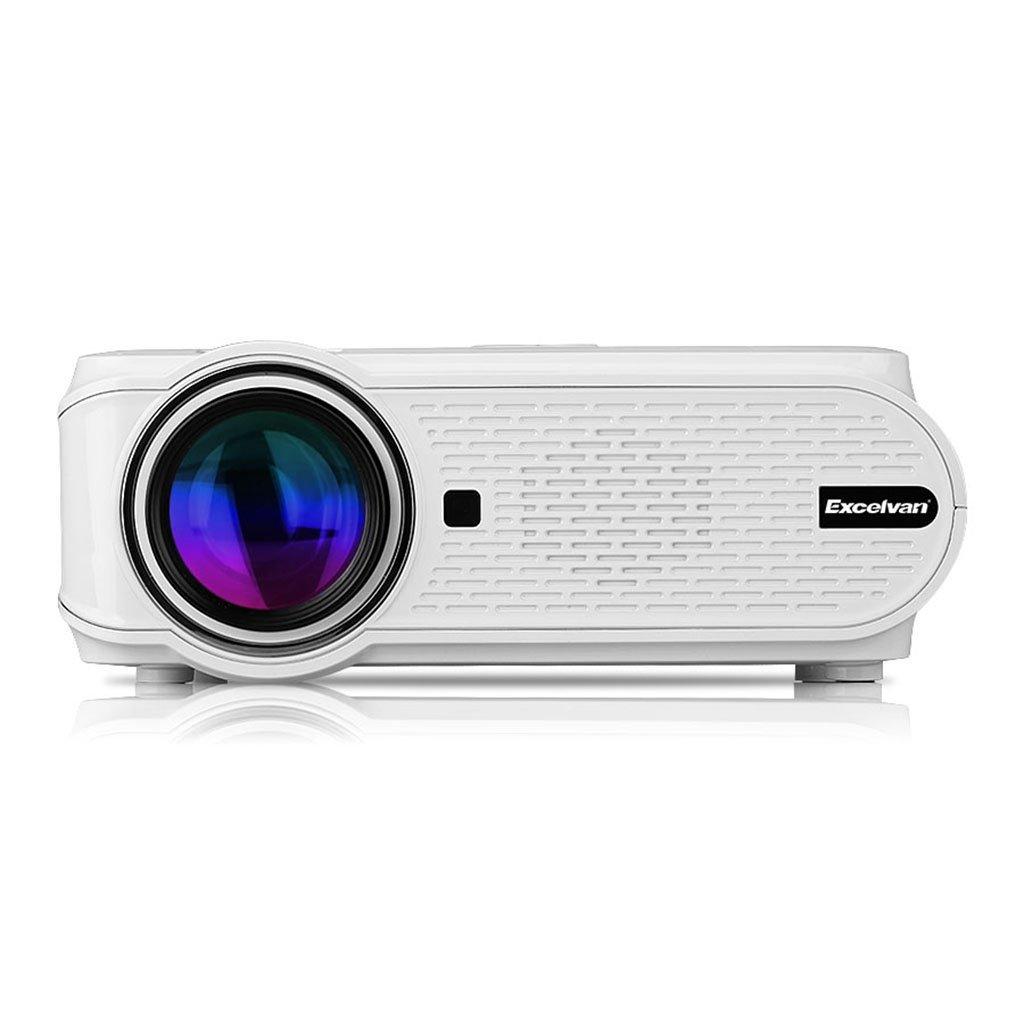 Excelvan EHD02 - Mini Proyector portátil LED Home Cinema (1000 lúmenes, resolución 800*480, HDMI/USB/VGA/AV/ATV/SD), con altavoces incorporados, ...