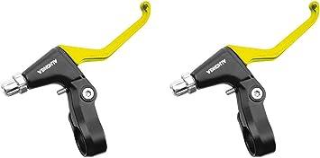 2x Manetas de Freno Aluminio lacado en Amarillo Amarillas V ...