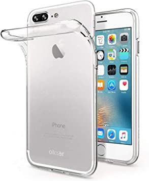 Exact-Fit TPU Crystal Clear Cover for iPhone 8 Plus iPhone 7 Plus,Transparent Soft Colorful Flexible Plastic Durable Rubber with Creative Shockproof Drop Protection Back Bumper