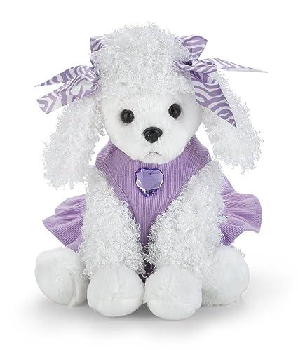 Amazon Com Bearington Posh Poodle Stuffed Animal Toy Dressed Puppy