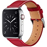 Marge Plus Compatible with Apple Watch Band 44mm 42mm 40mm 38mm, Genuine Leather Replacement Band for iWatch Series 6 5…