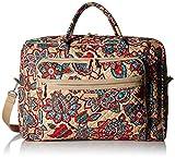 Vera Bradley Iconic Grand Weekender Travel Bag, Signature Cotton, Desert Floral + 1.50 Power