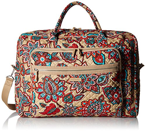 Vera Bradley Iconic Grand Weekender Travel Bag, Signature Cotton, Desert Floral + 1.50 Power
