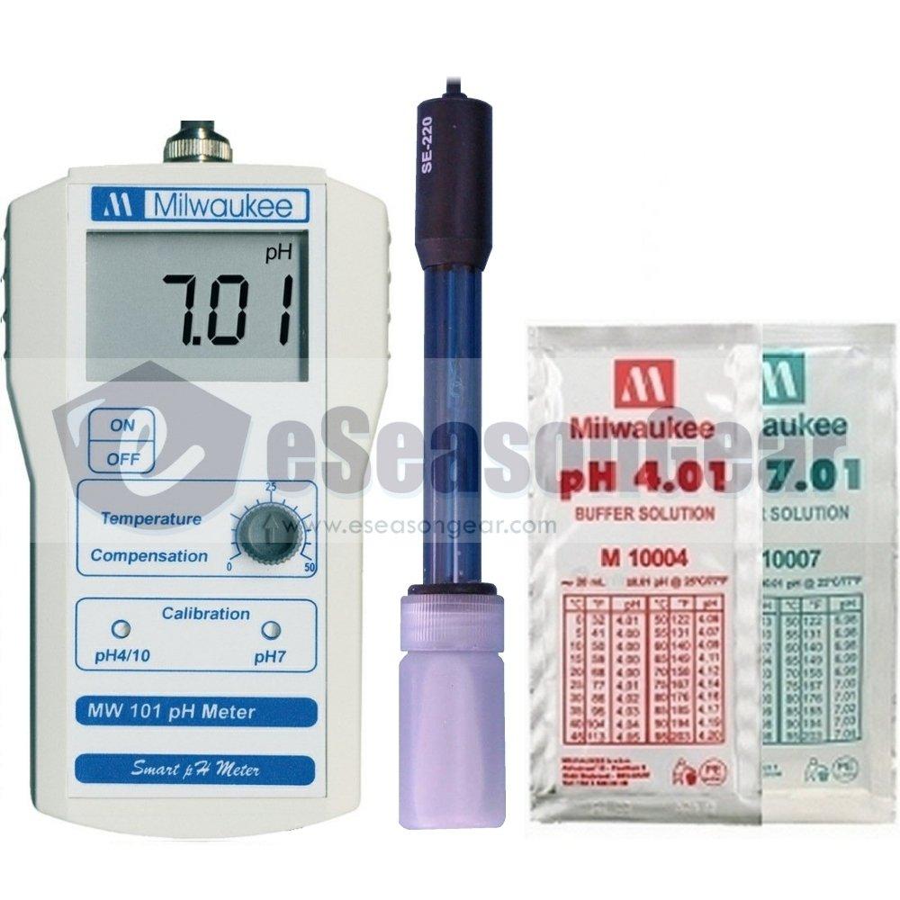 Milwaukee MW101 Digital pH meter w/ Calibration Solution by Milwaukee