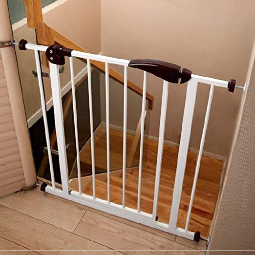 LSRRYD Barrera Extensible Perros Tubería De Hierro Valla Seguridad Infantil Rejilla para Escaleras Doble Bloqueado Fácil De Instalar para Interior Al Aire Libre (Color : Brown, Size : 75-82x76cm): Amazon.es: Hogar