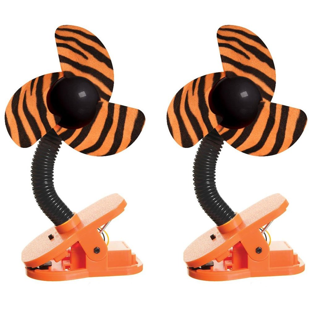 DreamBaby Clip-on Stroller Fan 2 Pack - Tiger by Dreambaby