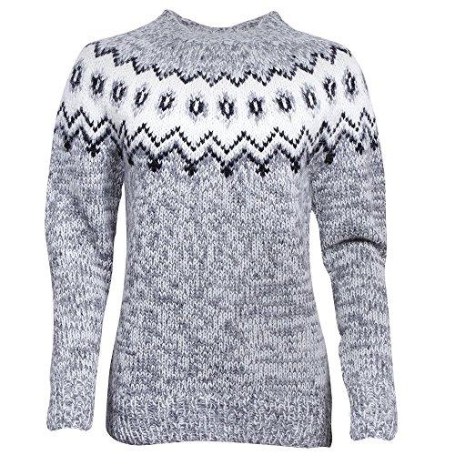 ICEWEAR Hulda 100% Icelandic Wool Jumper with Crew-Neck - Wool Icelandic Sweaters