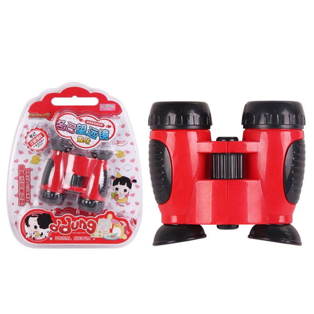 Qiyun望遠鏡子供アウトドア高品位ポータブル滑り止め双眼鏡望遠鏡Toy for旅行ハイキングキャンプクリスマスギフト colour:red CACY-1008-ST2 B076BNZWHF Colour:red Colour:red