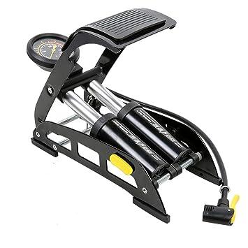 Amazon.es: Compresor de Aire Portátil Tipo de Pedal Inflador Para Bicicletas y Coches Doble Cilindro