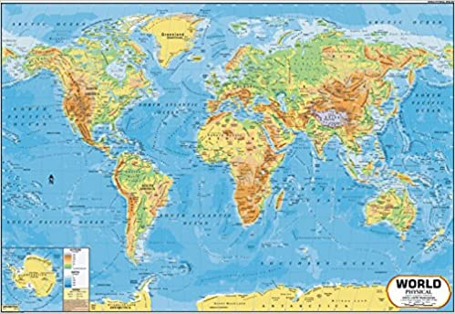 Buy World Map Physical 100 X 70 Cm Book Online At Low Prices In