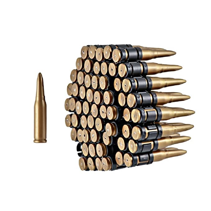 ab9dc5127a Amazon.com  Gold   Black Plastic Costume Bullet Belt Bandolier w  96 ...