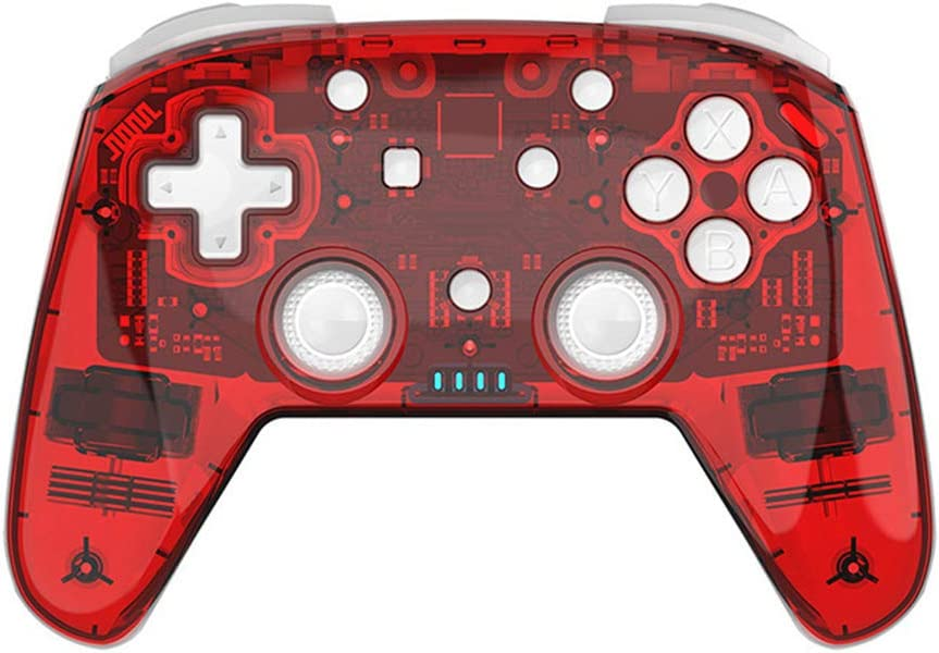 GoolRC- Game Pad Controlador Inalámbrico de Joystick para Juegos BT con Mango de 6 Ejes para Switch Pro NS PC Vibration Somatosensorial Gamepad