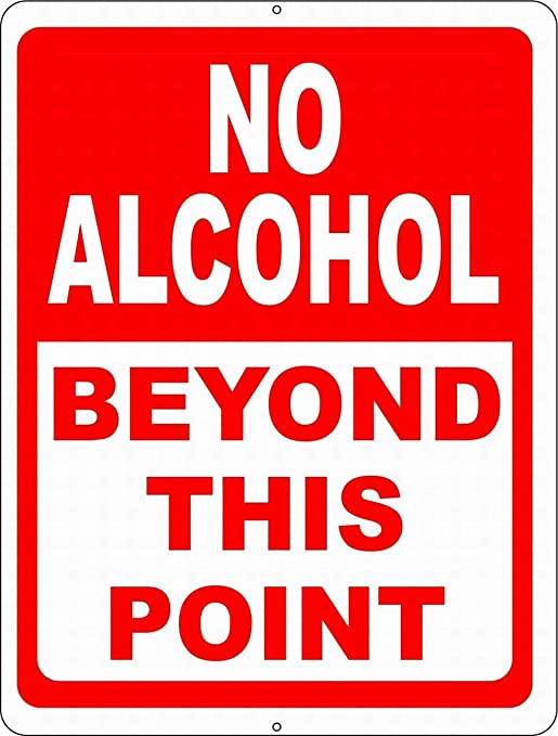 No Alcohol Beyond This Point Póster De Pared Metal Retro ...