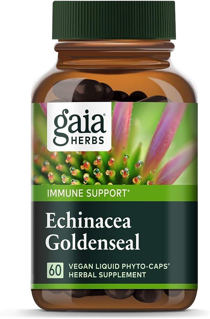 Gaia Herbs Echinacea Goldenseal Vegan Liquid Capsules