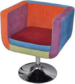 vidaXL Fauteuil Design Club Design Patchwork Multi Couleur 63x57x66–76cm élégant Stable