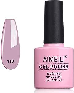 AIMEILI Soak Off UV LED Gel Nail Polish - Prunus persica (110) 10ml