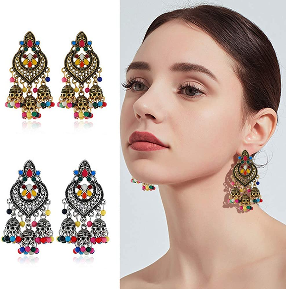 Fashion Bohemian Earrings Personality Tassel Drop Earrings Ethnic Style Indian Jewelry