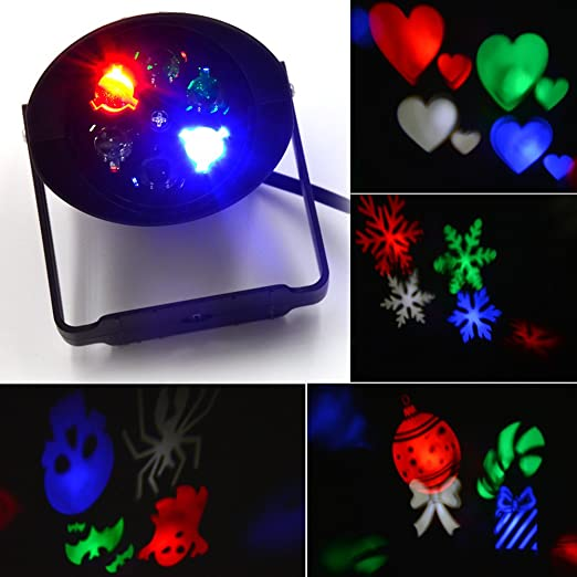 led landscape projector lamp jltph pattern stage light moving snowflake spotlight 4 gobo lens for dj bar home halloween christmas wedding party home