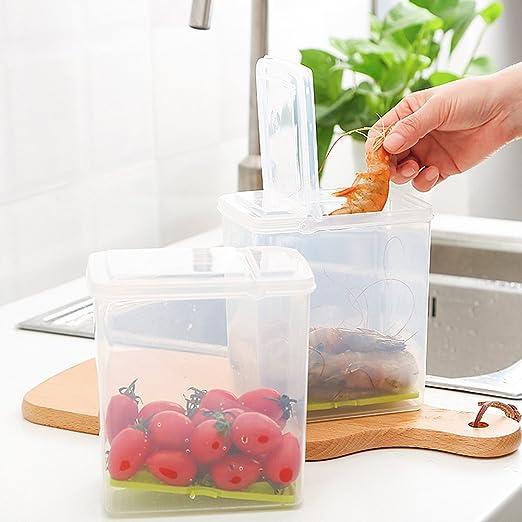 Morbuy 1PC Cocina Frigorifico Frigorifico Cajas Congelador Recipiente de Almacenamiento Caja Frigorífico Alimentos Caja Contenedor (A): Amazon.es: Hogar