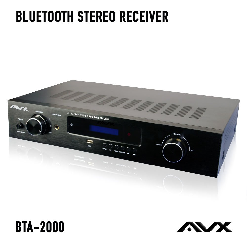 Bluetooth Stereo Receiver W Phono Input Subwoofer How To Hook Up Output And Fm Tuner By Avx Audio Home Theater